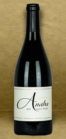 Anaba Sonoma Coast Pinot Noir 2015 Red Wine