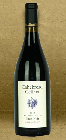 Cakebread Cellars Two Creeks Anderson Valley Pinot Noir 2018 Red Wine