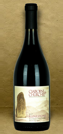 Claiborne and Churchill Runestone Pinot Noir 2017 Red Wine