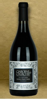 Claiborne and Churchill Twin Creeks Estate Pinot Noir 2017 Red Wine