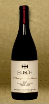 Husch Vineyards Anderson Valley Pinot Noir 2018 Red Wine