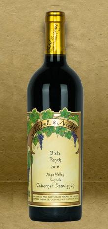 Nickel and Nickel State Ranch Vineyard Cabernet Sauvignon 2018 Red Wine