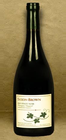 Saxon Brown Ferrington Vineyard Pinot Noir 2015 Red Wine