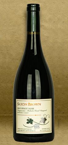Saxon Brown Sangiacomo-Roberts Road Vineyard Pinot Noir 2015 Red Wine