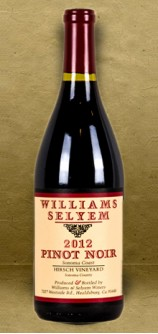 "Williams Selyem ""Hirsch Vineyard"" Pinot Noir 2012 Red Wine"