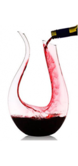 Culinaire U-shaped Crystal Glass Wine Decanter