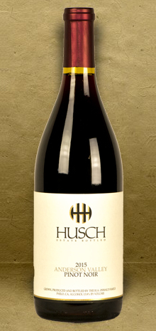 Husch Vineyards Anderson Valley Pinot Noir 2015 Red Wine