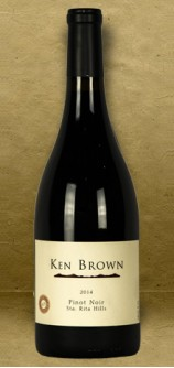 Ken Brown Sta. Rita Hills Pinot Noir 2014 Red Wine