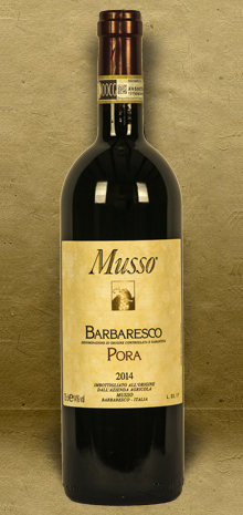 Musso  Barbaresco Pora DOCG 2014 Red Wine