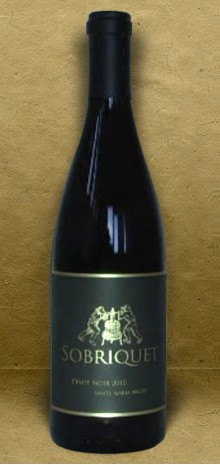 Sobriquet Pinot Noir 2010 Red Wine