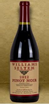 "Williams Selyem ""Hirsch Vineyard"" Pinot Noir 2012 Red Wine"