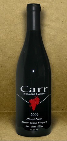 Carr Winery, Kessler-Haak Vineyard, Sta. Rita Hills 2009 Pinot Noir Red Wine